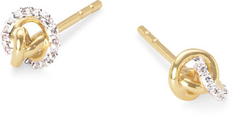Kendra Scott Love Knot 14K Gold Stud Earring in White Diamond