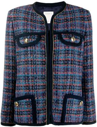 Sandro Paris fitted tweed blazer