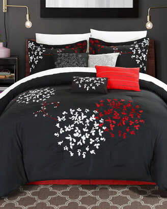 Chic Home Budz Oversized Embroidered Comforter Set