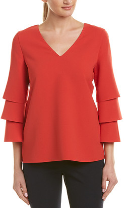 Lafayette 148 New York Tiered Top