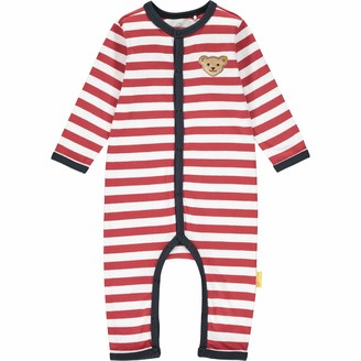 Steiff Baby_Boy's mit suer Teddybarapplikation Footies