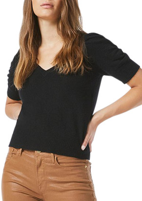 Frame Frankie Puff-Sleeve Cashmere Sweater