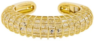 Verdura 18kt Yellow Gold Rocky Crystal Caged Cuff