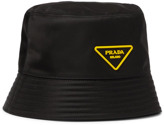 Prada Logo-Appliqued Nylon Bucket Hat