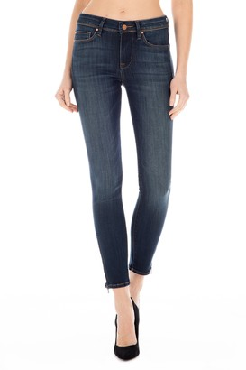Fidelity Sola Zip Mid Rise Skinny Jeans