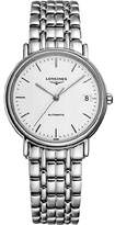 Longines Men's 34mm Steel Bracelet & Case S. Sapphire Automatic Dial Analog Watch L48214126