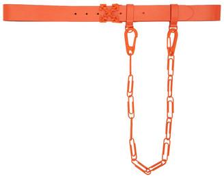 Off-White Orange Chain Arrows Belt