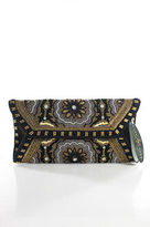 Mary Frances Multi-Color Beaded Clutch Handbag New