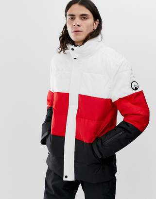 Hiit HIIT ski puffer jacket with panels in red