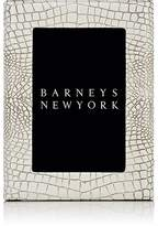 "Barneys New York Studio Crocodile-Embossed Leather 4"" x 6"" Picture Frame"