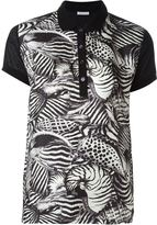 Moncler animal print polo shirt - women - Silk/Cotton/Polyamide - S