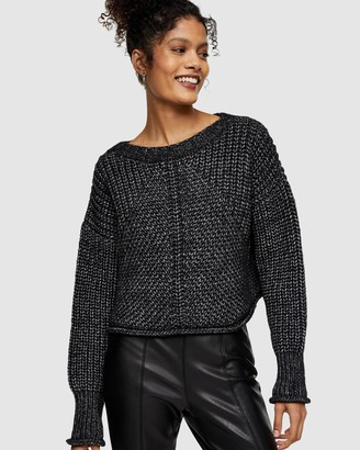 Topshop Twist Yarn Cropped Knitted Tank