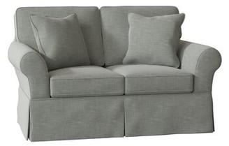 Wilkenson Loveseat Craftmaster Body Fabric: Fleek 21, Throw Pillow Fabric: Fleek 21, Arm Covers: No