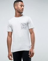 ONLY & SONS T-Shirt With Contrast Print Pocket And Raw Hem