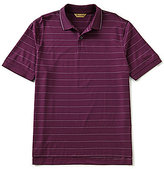 Roundtree & Yorke Gold Label Non-Iron Short-Sleeve Striped Polo