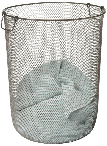 Container Store Industrial Mesh Hamper Clear Coat