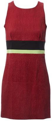 Louis Vuitton Burgundy Leather Dresses