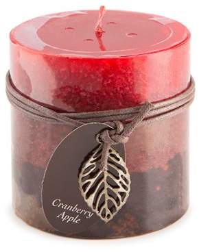 Dynamic Collections Layered Candles - Cranberry Apple - 4-inch Wide Pillar