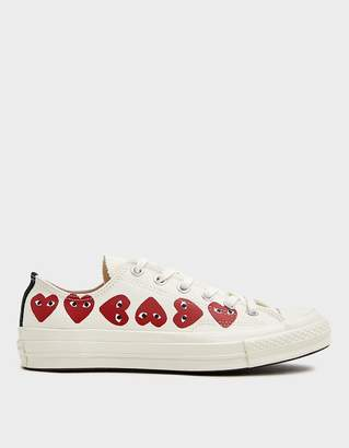 Comme des Garcons Play Converse Low Multi Heart Sneaker in Off White