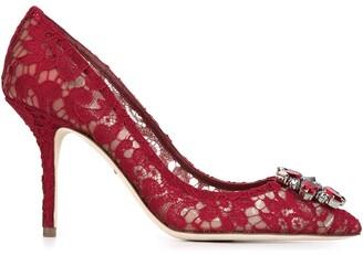 Dolce & Gabbana Belluci Taormina lace pumps
