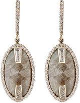 Monique Péan Women's White Diamond & Green Sapphire Drop Earrings