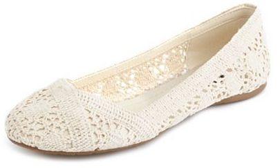 Charlotte Russe Sheer Crochet Ballet Flat