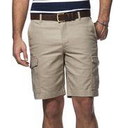 Chaps Big & Tall Classic-Fit Linen-Blend Cargo Shorts