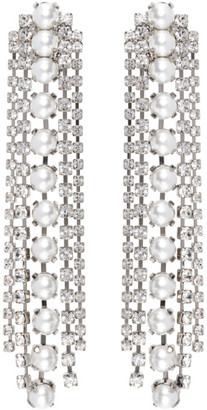 Wandering Silver Clip-On Pearl Earrings