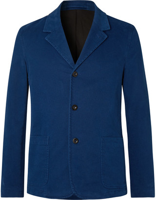 Mr P. Unstructured Cotton-Blend Moleskin Suit Jacket - Men - Blue