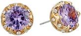 Betsey Johnson Fall Follies Purple Stud Earrings