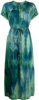 Raquel Allegra tie-dye side slit maxi dress