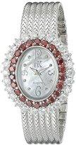 Adee Kaye Women's AK2423-TZ GLAM COLLECTION Analog Display Analog Quartz Silver Watch