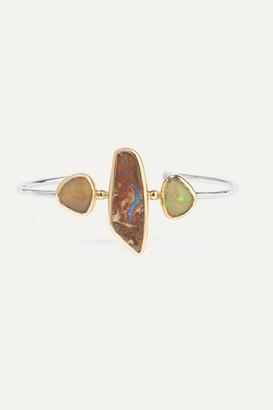 Melissa Joy Manning 14-karat Gold And Sterling Silver Opal Cuff