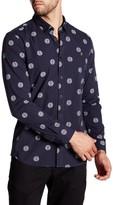 Farah Millfield Dot Print Long Sleeve Slim Fit Shirt