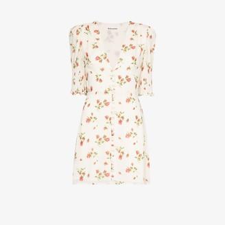Reformation Alison floral button-up dress