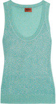 Missoni Metallic Crochet-knit Tank - Turquoise
