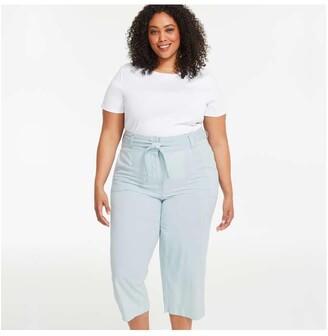 Joe Fresh Women+ Belted Pants, Light Blue (Size 16)