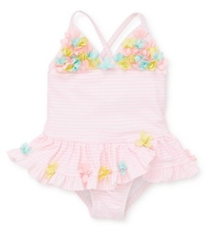 Little Me Baby Girls 3D Multi Swimsuit