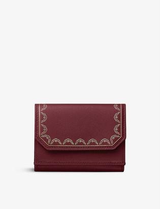 Cartier Guirlande De zipped leather triptych wallet