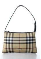 Burberry Multicolored Coated Twill Nova Check Plaid Pochette Handbag