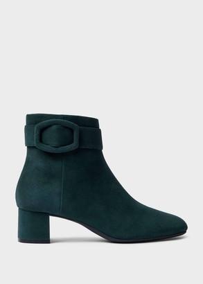 Hobbs Hailey Suede Block Heel Ankle Boots