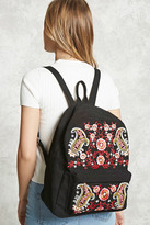 Forever 21 FOREVER 21+ Embroidered Paisley Backpack