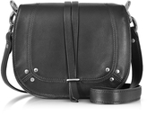 Jerome Dreyfuss Victor Black Leather Shoulder Bag