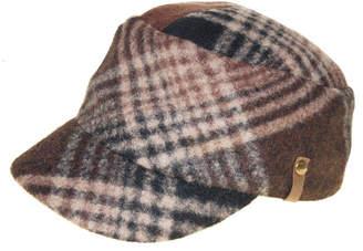 Frye Wool Plaid Engineer Cap
