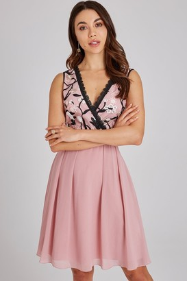 Little Mistress Cordelia Rose Floral Prom Dress