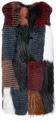 Mr & Mrs Italy Long Waistcoat For Woman In Fox Fur