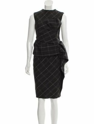 Lanvin Plaid Midi Dress