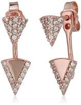 Lucky Brand Rose Gold Triangle Jacket Earrings