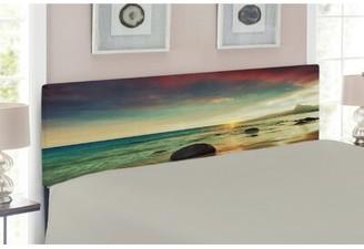 East Urban Home Beach Upholstered Panel Headboard Size: Twin