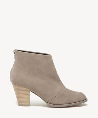 Sole Society Women's Devyn Mid Heels Ankle Bootie Khaki Size 5 Leather From